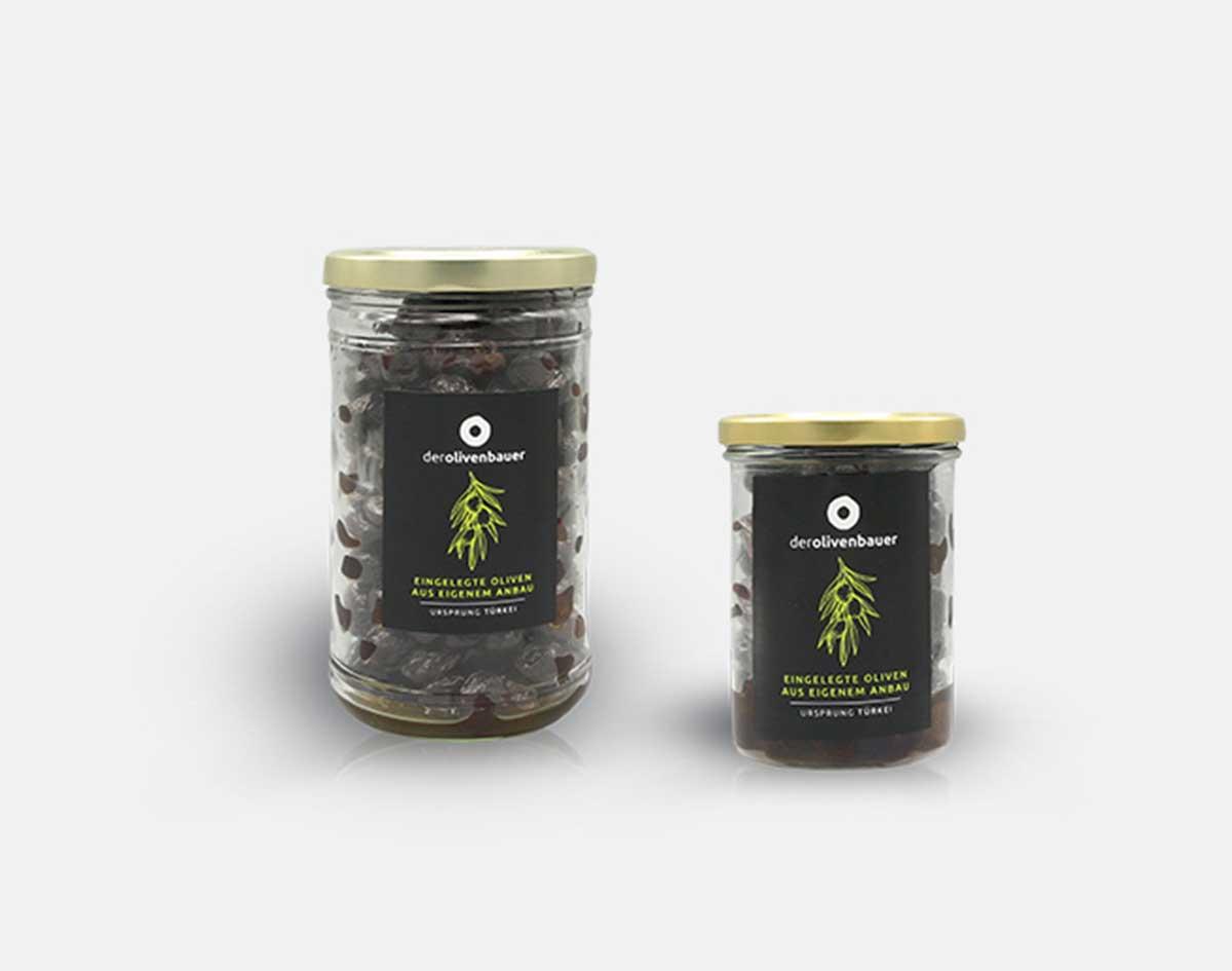 Schwarze milde eingelegte Oliven | Der Olivenbauer