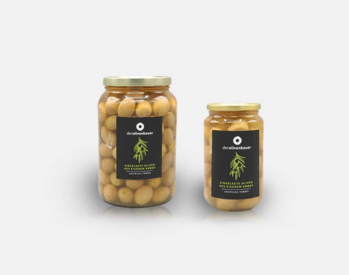Grüne milde eingelegte Oliven | Der Olivenbauer