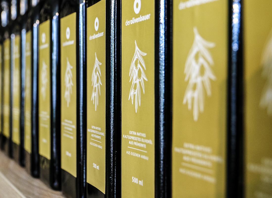 Extra Natives Olivenöl Etikett | Der Olivenbauer