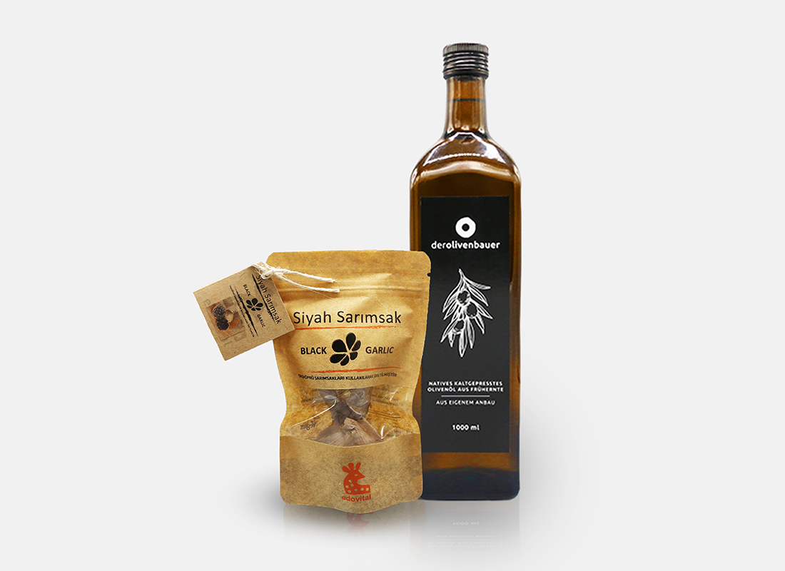 Schwarzer Knoblauch und Olivenöl   Der Olivenbauer