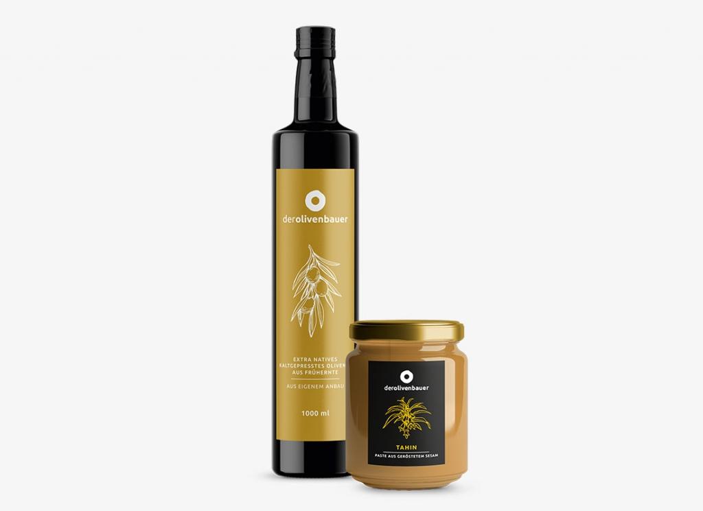 Olivenöl und Tahin | derolivenbauer